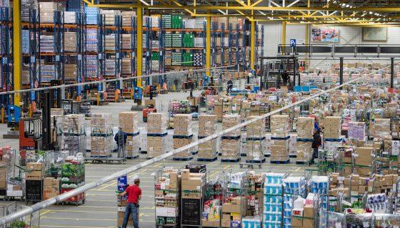 Foto bij robotisering warehouses