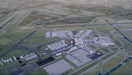 Animatie groei Amsterdam Airport Schiphol