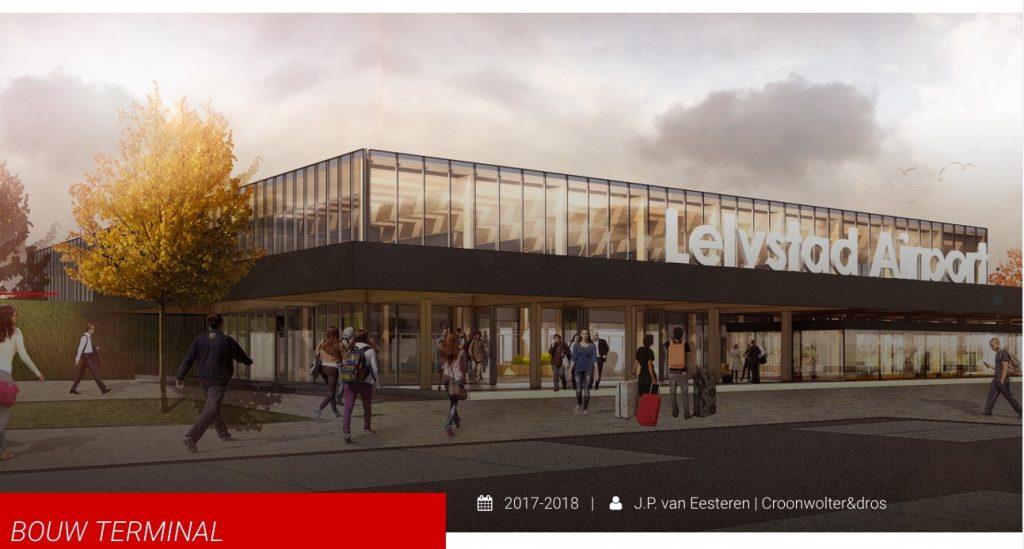 Nieuwe terminal Lelystad Aiport